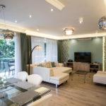 Teljes átalakulás 142 m2-en, nappali-étkező tér - kivitelezés: Bergmann Kft, lakberendező, tervező: www.flatart.hu