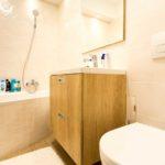 Panellakás a város felett - fürdőszoba teljes átalakítás, díszítő gipszkartonozással | belsőépítészeti átalakítás, kivitelezés: Bergmann Kft.