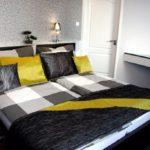 Elegáns apartman - nagy hálószoba kialakítása: gipszkartonozás, villanyszerelés, festés, tapétázás