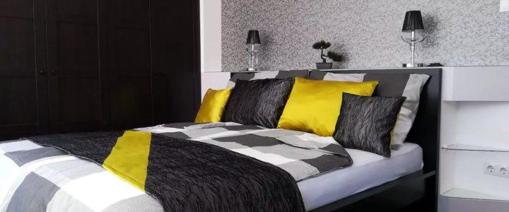 Elegáns apartman - hálószoba kialakítás beépített szekrénnyel